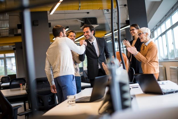 Business people working in the modern office Premium Photo