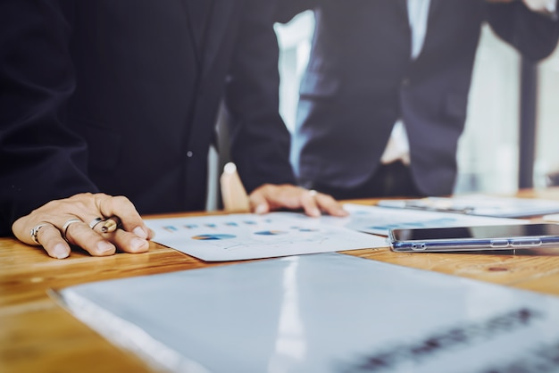 Business people working together meeting. Premium Photo