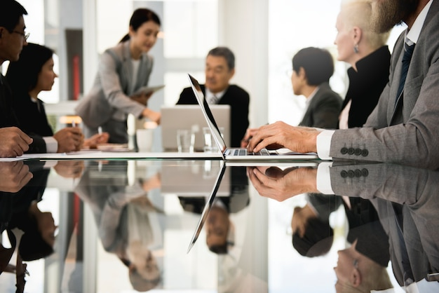 Business people working together in an office Premium Photo