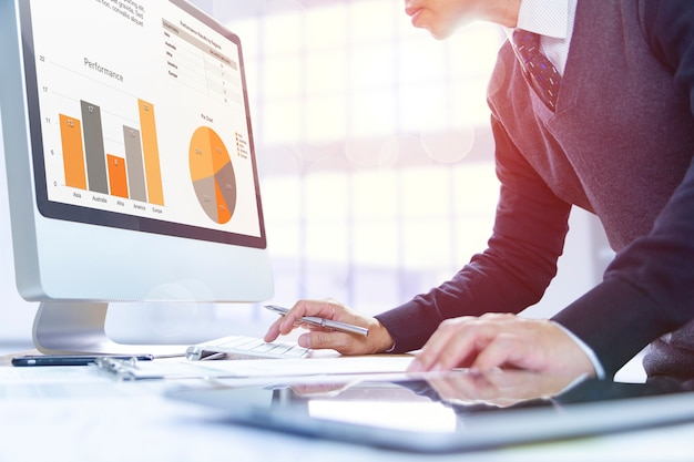 Business performance review Premium Photo