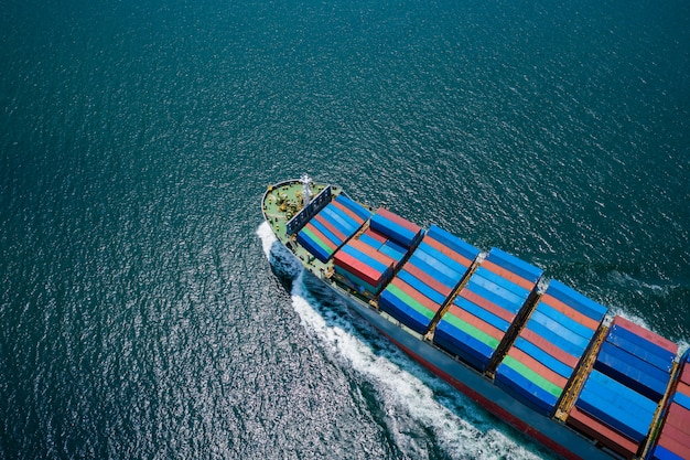 Business shipping cargo containers import export freight