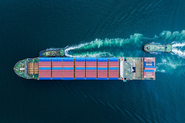 Business shipping cargo containers Premium Photo