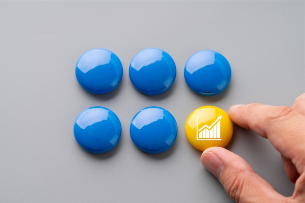 Business & strategy colorful puzzle Premium Photo