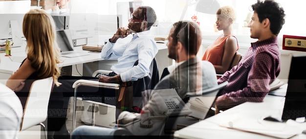 Business team plan ideas strategy concept Premium Photo
