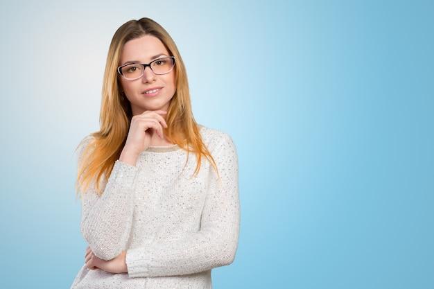 Business woman in glasses Premium Photo