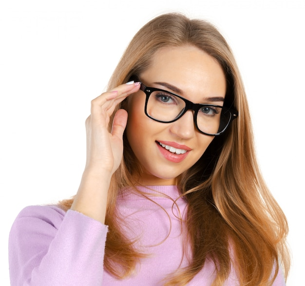 Business woman in glasses Premium Photo