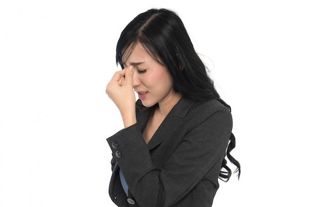 Business woman headache Premium Photo