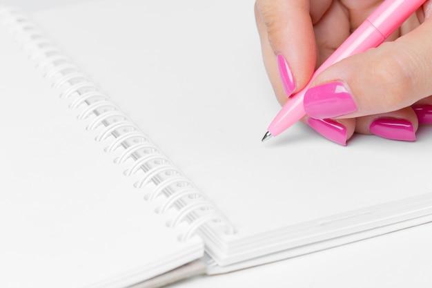 Business women hands working writing notebook Premium Photo