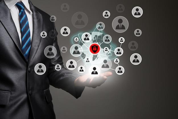 businessman application human digital business Free Photo