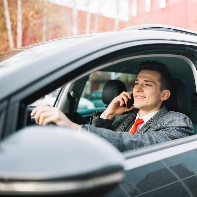 Businessman calling Free Photo