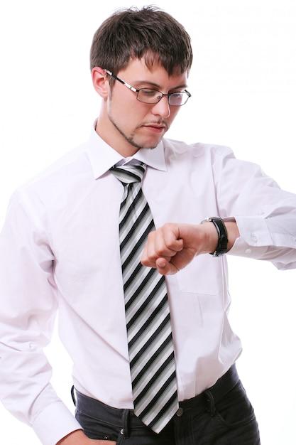 実業家は彼の機知の時計をチェック 無料写真