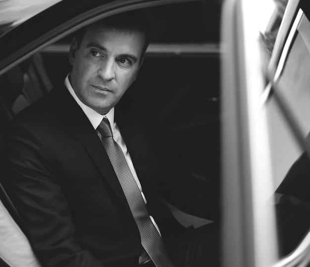 Businessman corporate taxi transport service Free Photo