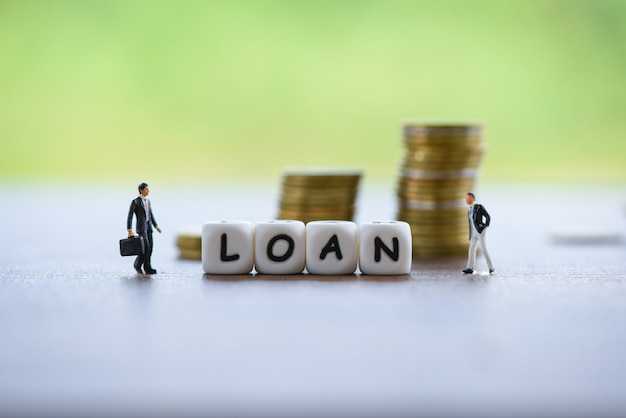 Businessman financial loan negotiation for lender and borrower on business document mortgage loan approval Premium Photo