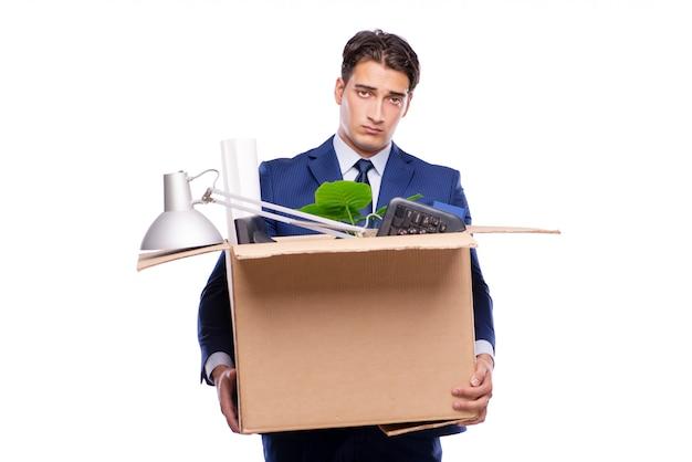 Businessman made redundant fired after dismissal Premium Photo