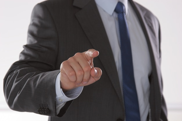 Businessman ready to shake hand in office Premium Photo