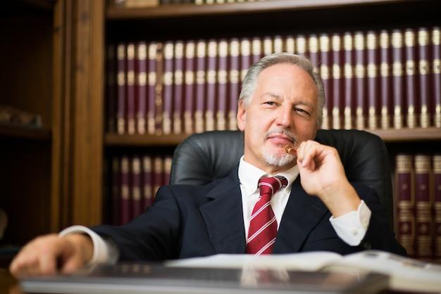 Businessman thinking about something Premium Photo