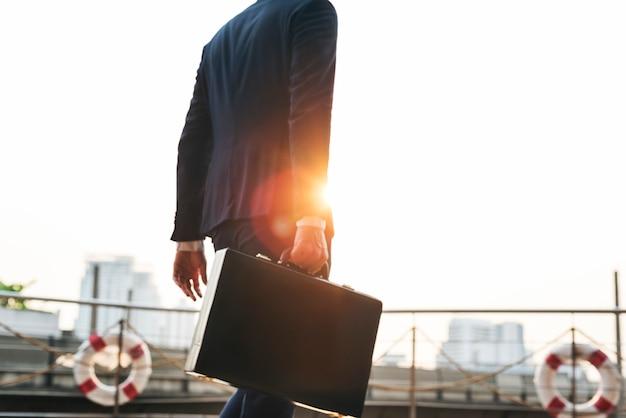 Businessman worker rush hour concept Premium Photo
