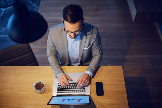 Businessman working from home, Premium Photo