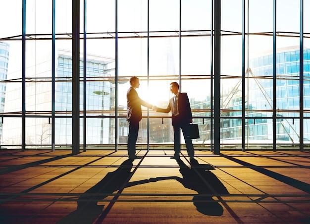 Businessmen deal business handshake greeting concept Premium Photo