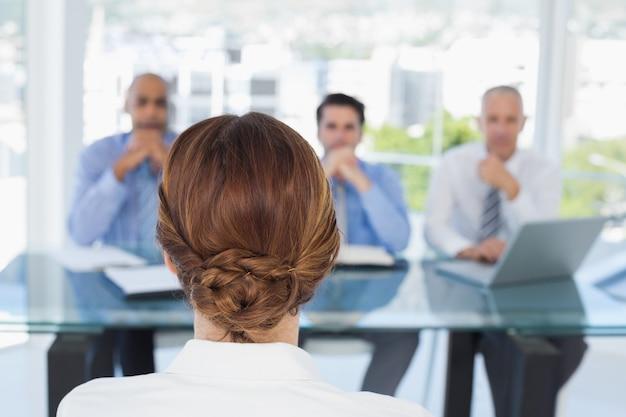 Businesswoman at work interview Premium Photo