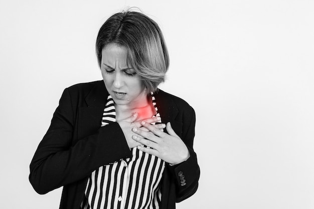 Businesswoman with hurting shoulder Free Photo