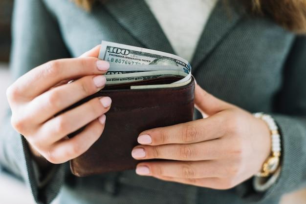 Businesswoman with money Free Photo