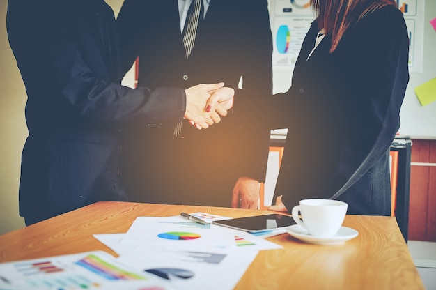 Premium Photo   Bussiness and meetings and work unity.