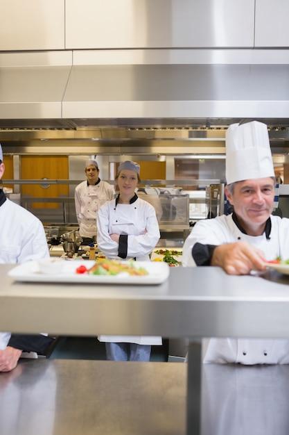 busy restaurant kitchen. Busy Restaurant Kitchen Premium Photo M