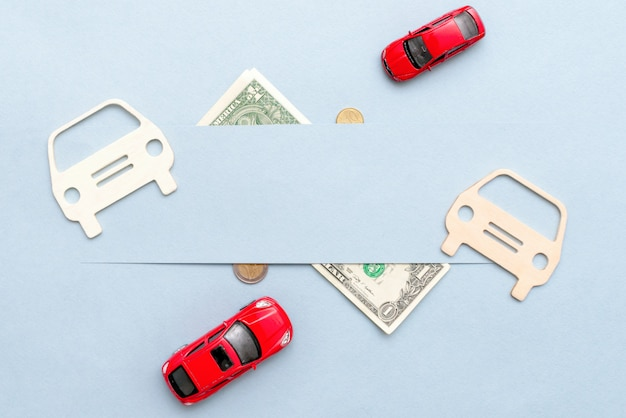Buying a car on credit and for your cash Premium Photo
