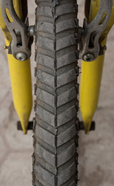 Bycycle tyre Premium Photo