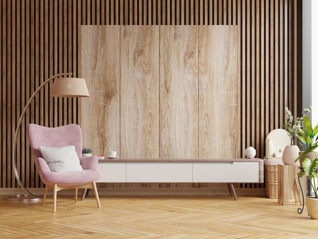 vertical wooden ideas for living room