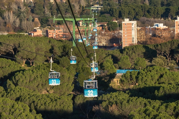 Cable Car Over Casa De Campo Park In Madrid Spain Photo