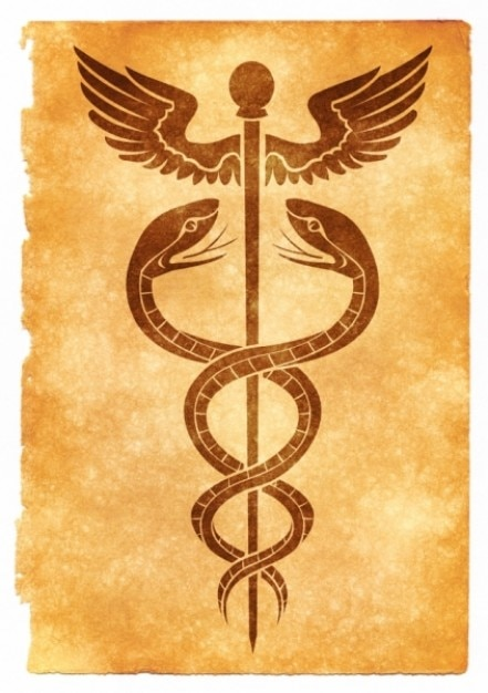 caduceus grunge symbol Free Photo