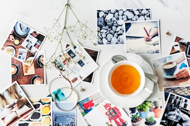 Cafe tea time break relaxation photography concept Free Photo