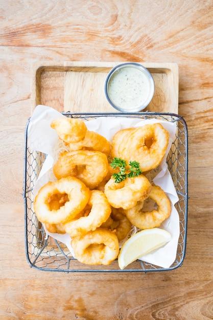 Calamari rings Free Photo