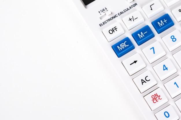 Calculator closeup Premium Photo