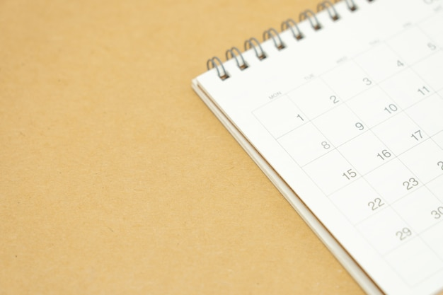 A calendar of the month. planning concept Premium Photo