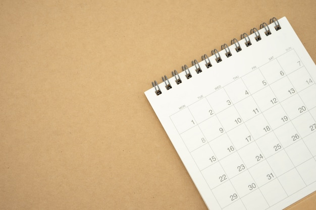 A calendar of the month. using as background business concept and planning Premium Photo