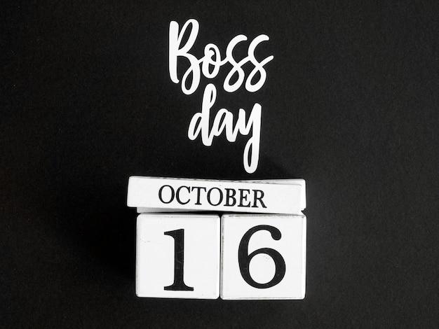 Календарь с знаком дня босса Premium Фотографии