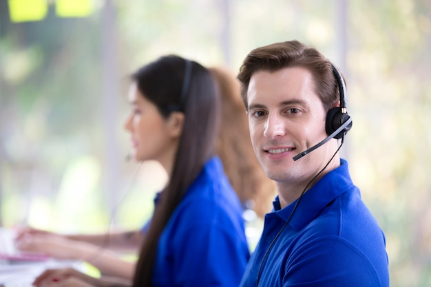 Call center service concept Premium Photo