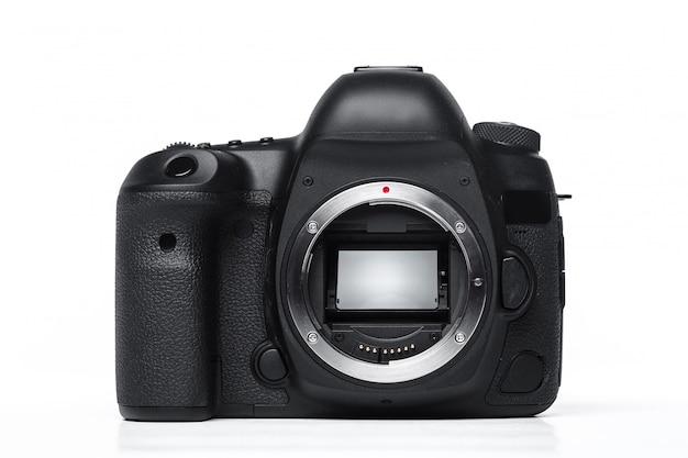 Camera isolated on white Premium Photo