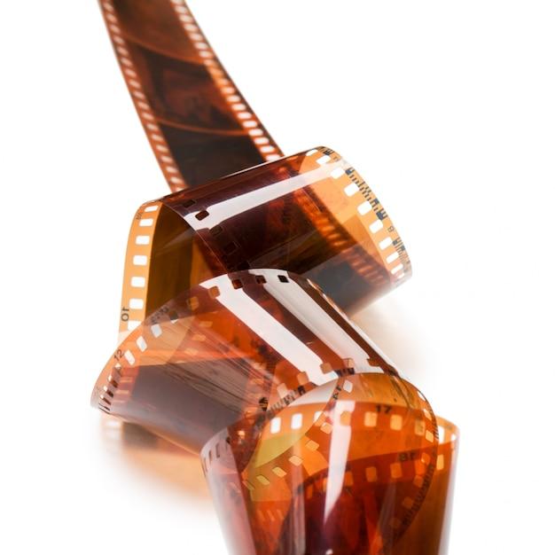 Camera negative film isolated on white Premium Photo