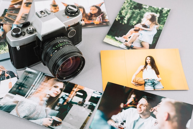 Camera with pictures Free Photo