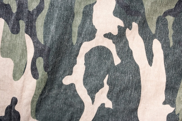 Camouflage Fabric Texture Pattern Background Photo