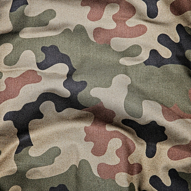 Camouflage pattern background or texture Premium Photo