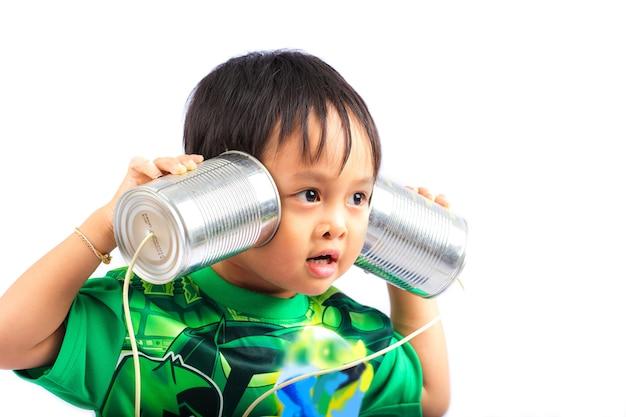Can telephone Premium Photo