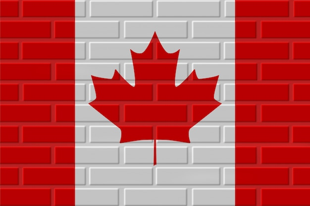 Canada brick flag illustration Premium Photo