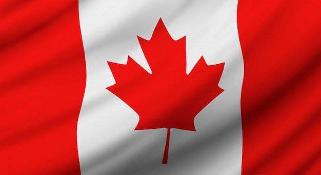 Canada flag background design for independence day Premium Photo