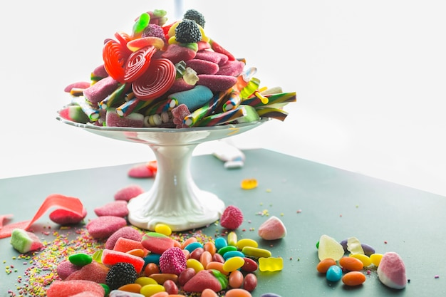 Candies on plate Free Photo