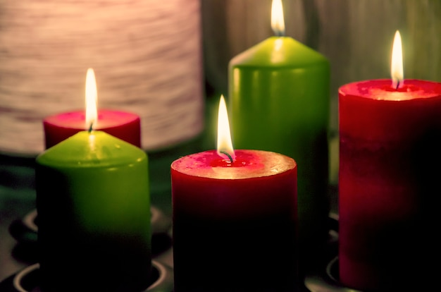 Candle in the dark Premium Photo